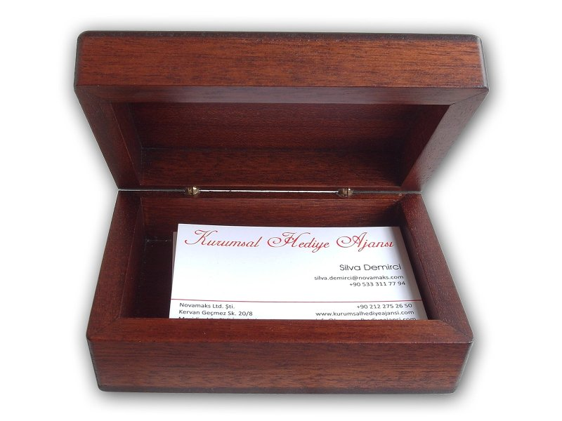 Custom Design Desktop Business Card Box