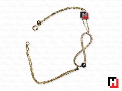 Custom Design Eternity Themed Bracelet