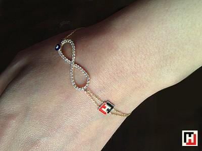 Custom Design Golden Eternity Bracelet