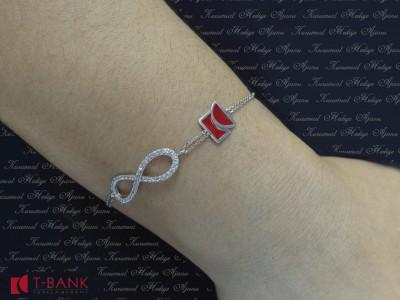 Custom Design Silver Eternity Bracelet