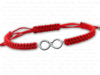 Hand in Hand forever Themed Unisex Silver Bracelet