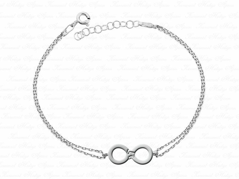 Hand in Hand Forever Themed VIP Silver Bracelet