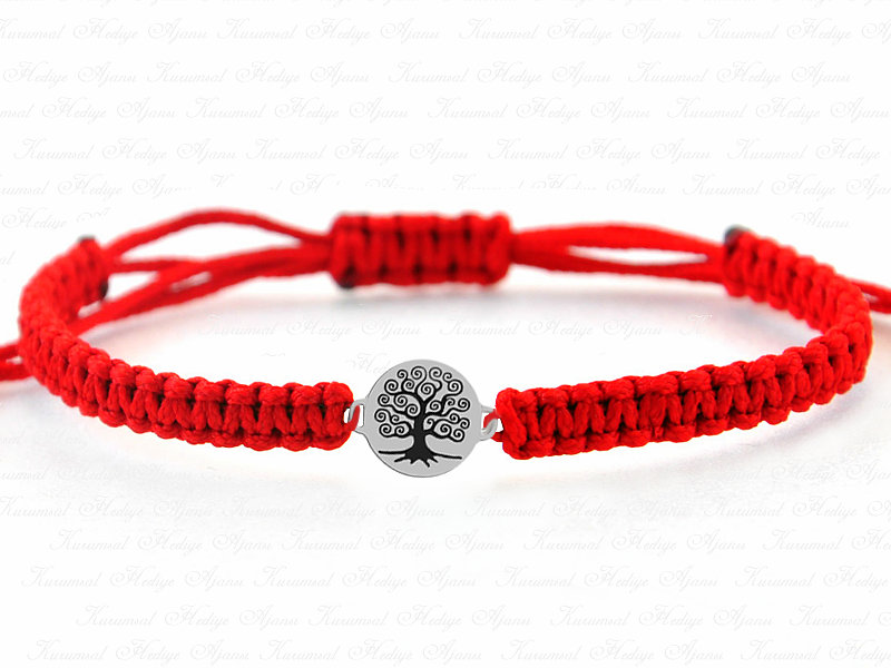 Life Tree Themed Unisex Silver Bracelet