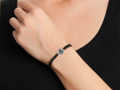 Life Tree Themed Unisex Silver Bracelet