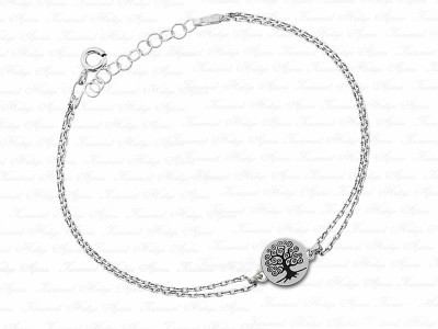Life Tree Themed VIP Silver Bracelet