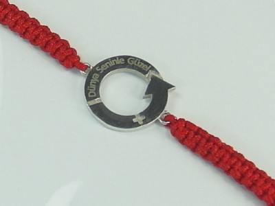 Women and Eternity Themed Silver Bracelet