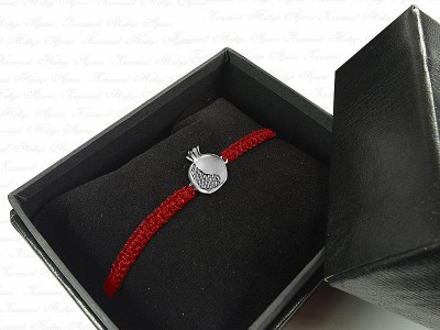 Pomegranate Themed Unisex Silver Bracelet