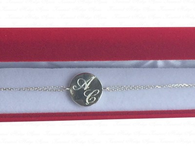 Silver Bracelet with Letters