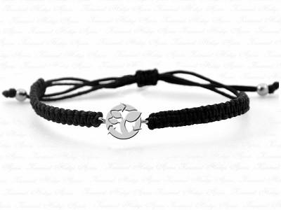 Environment Themed Unisex Silver Bracelet