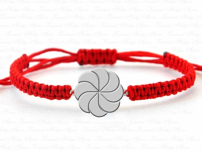 Wind Rose Silver Unisex Bracelet