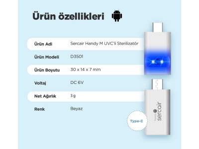 Portable UVC Sterilizer Handy M