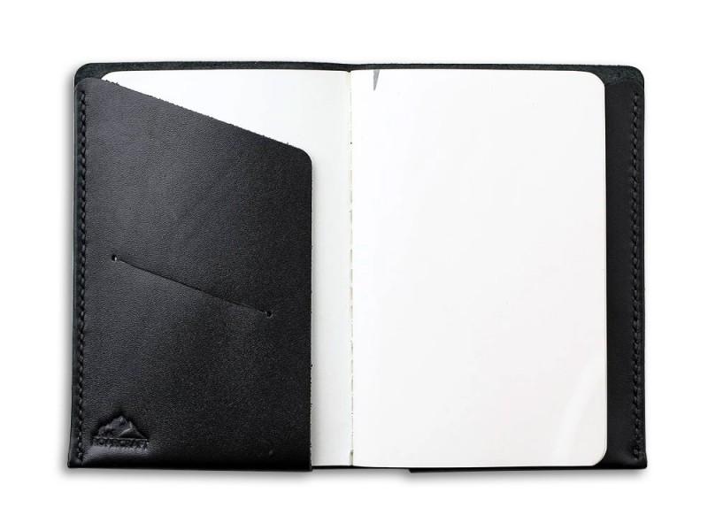 Not Defteri Deri Kılıfı 9x14cm (Siyah)