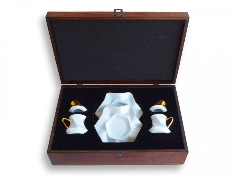 Mevlana Whirling Dervish Coffee Set Gold