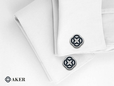 Corporate Design Silver Cufflinks