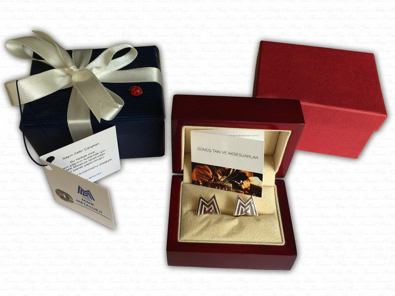 Corporate Custom Design Silver Cufflinks
