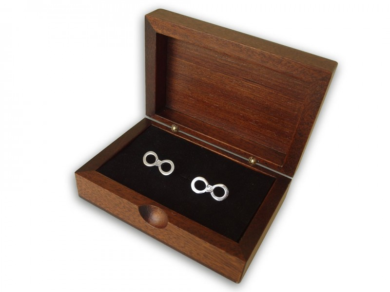 Hand in Hand forever Themed Silver Cufflink