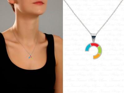 Corporate Custom Design Silver Necklace