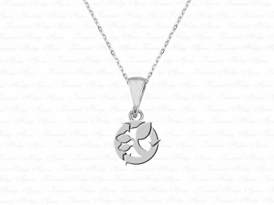 Environment Themed Silver Necklace