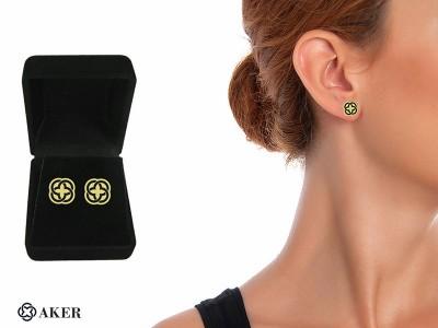 Corporate Design Silver Earrings