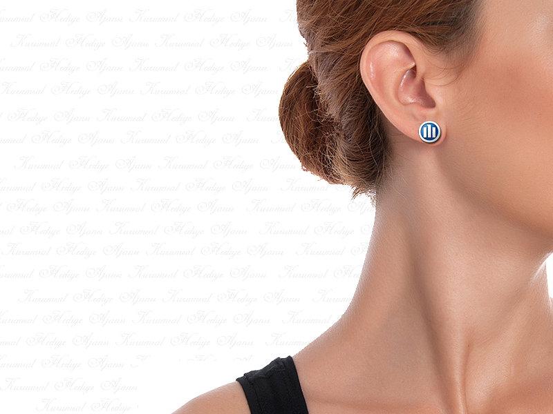 Corporate Custom Design Silver Earrings