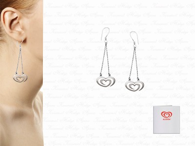 Corporate Custom Design Silver Earrings