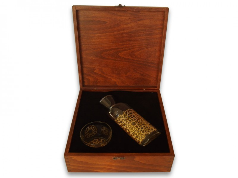 Seljuk Themed Carafe in Wooden Box