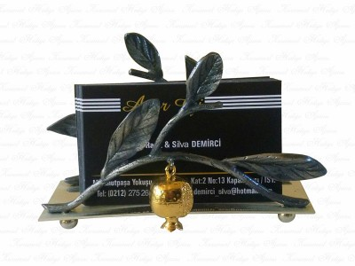 Pomegranate Design Business Card Holder
