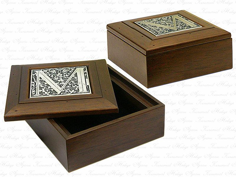 Solid Wooden Box with Letters