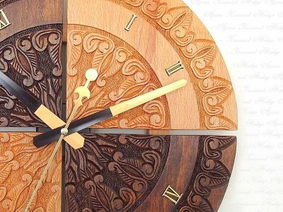 Hand Crafted Solid Wooden Wall Clock