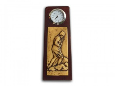 Ataturk Solid Wooden Desktop Clock