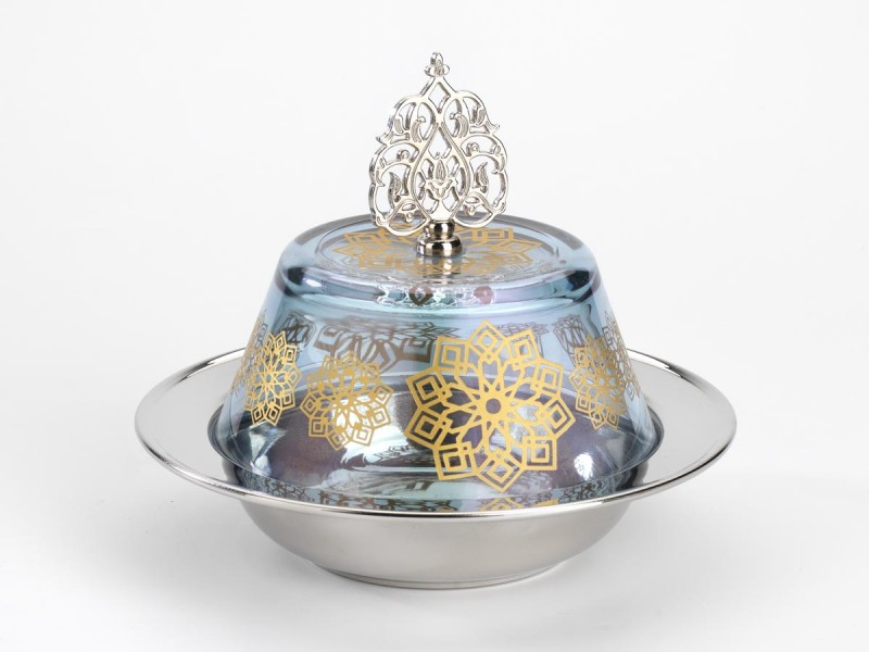 Seljuk Pattern Glass Candy Bowl