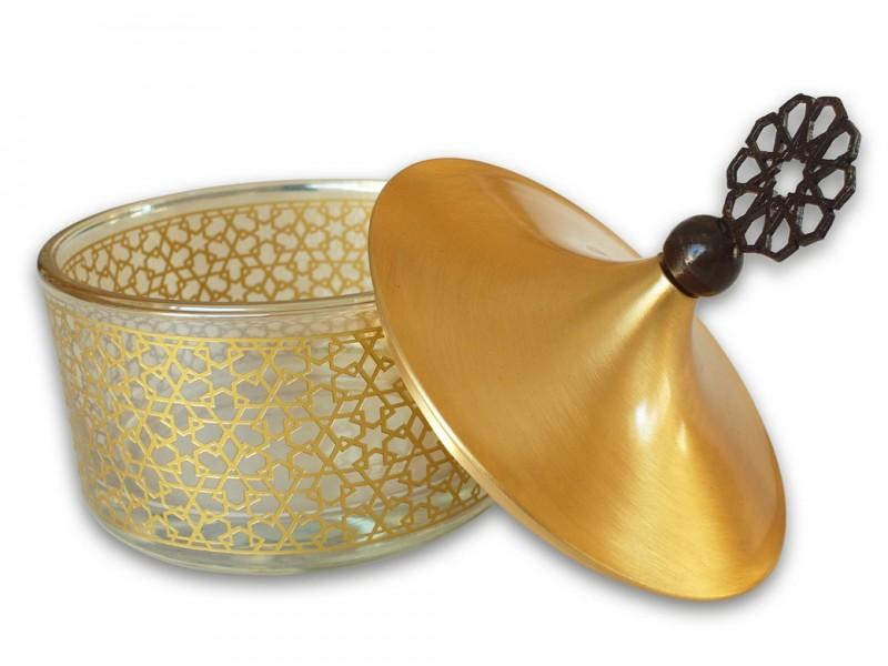 Seljuk Themed Sugar Bowl in Wooden Box