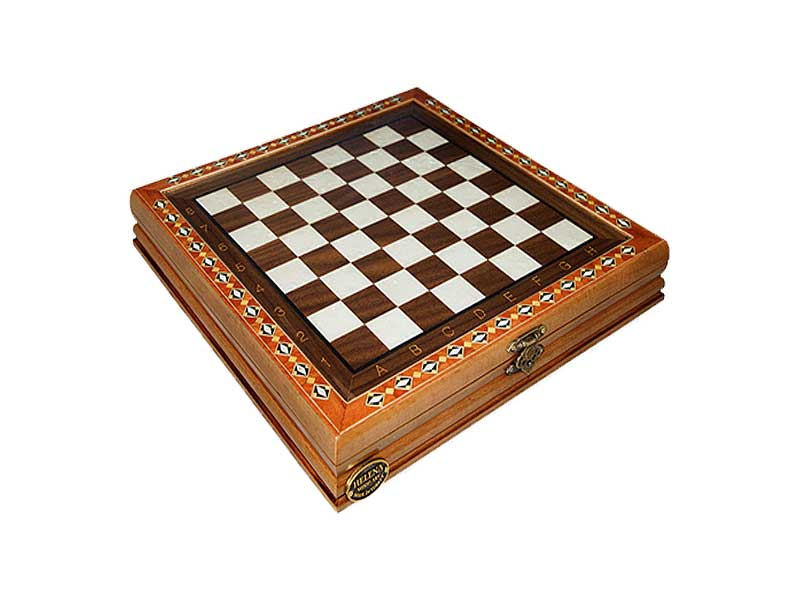 Handcrafted Small Chess Set with Cover