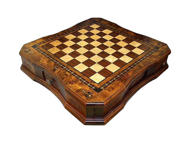 Handcrafted Butterfly Design Large Size Chess Set with Cover