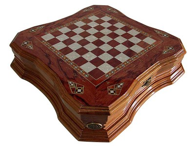 Handcrafted Butterfly Design Chess Set with Cover