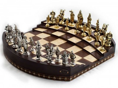 Handcrafted Arena Design Chess Set