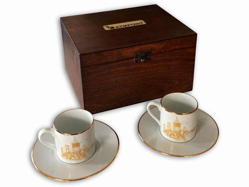Istanbul Themed VIP Coffee Set in Wooden Box