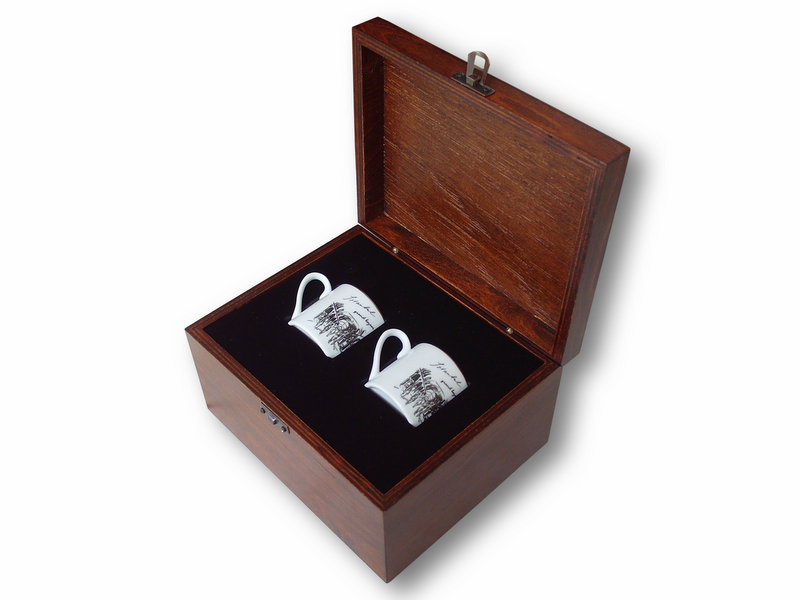 Covered Bazaar themed VIP Coffee Set in Wooden Box