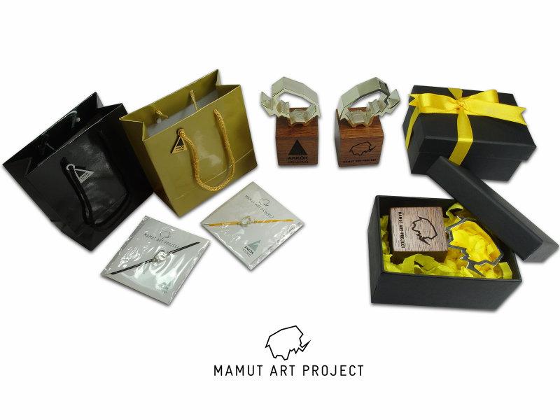 Mammoth Themed Silver Bracelet and Bibelot