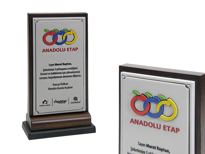 Custom Design Plaque Made for Banadolu Etap