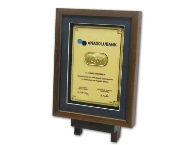 Custom Design Plaque Made for Anadolubank