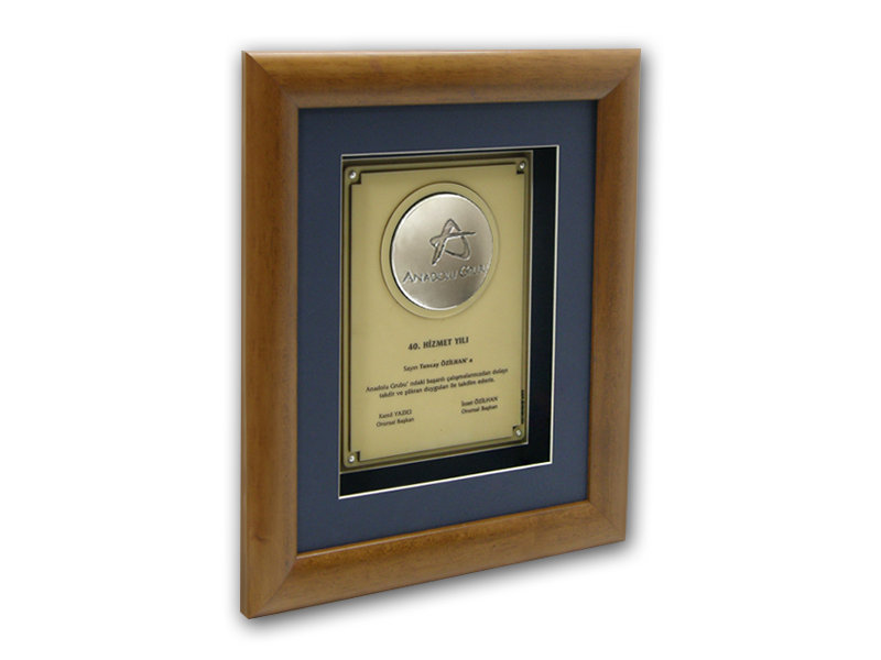 Plaque Made for Anadolu Group