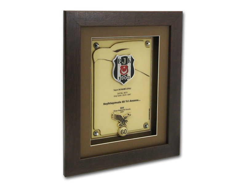 Custom Design Plaque Made for Besiktas