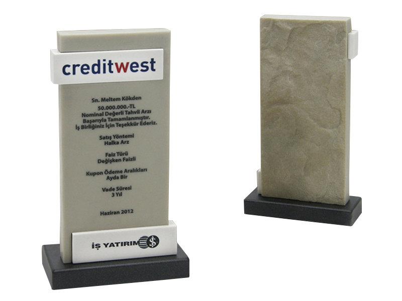 Custom Design Plaque Made for Creditwest