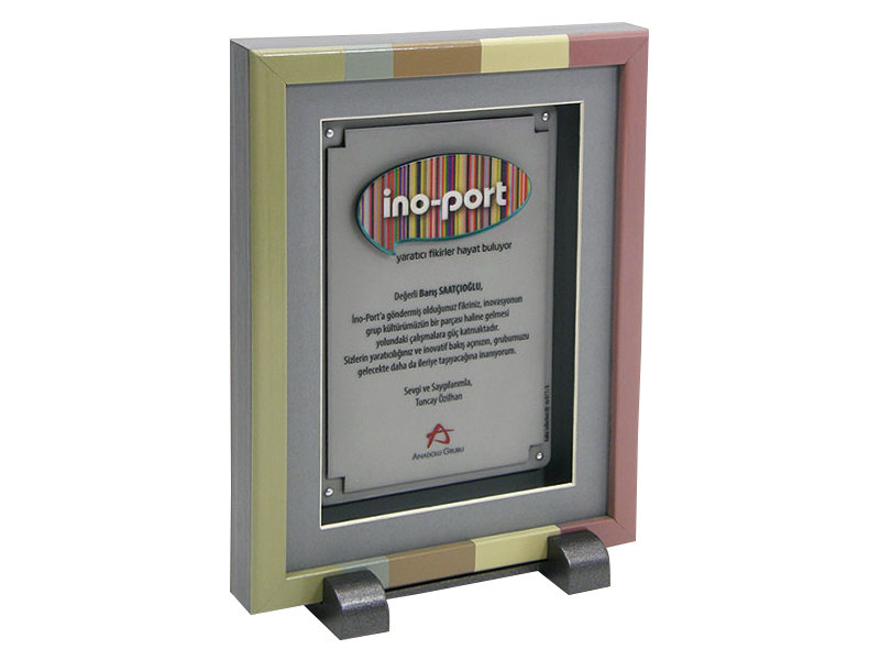 Custom Design Plaque Made for Ino-Port