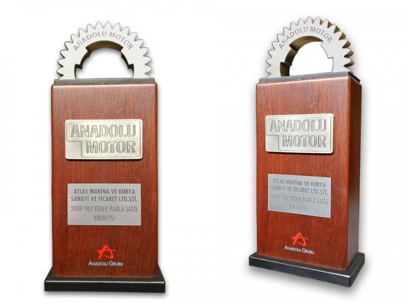 Custom Design Plaquet Made for Anadolu Motor