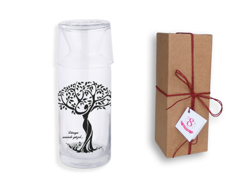 Woman and Tree of Life Themed Bedside Jug
