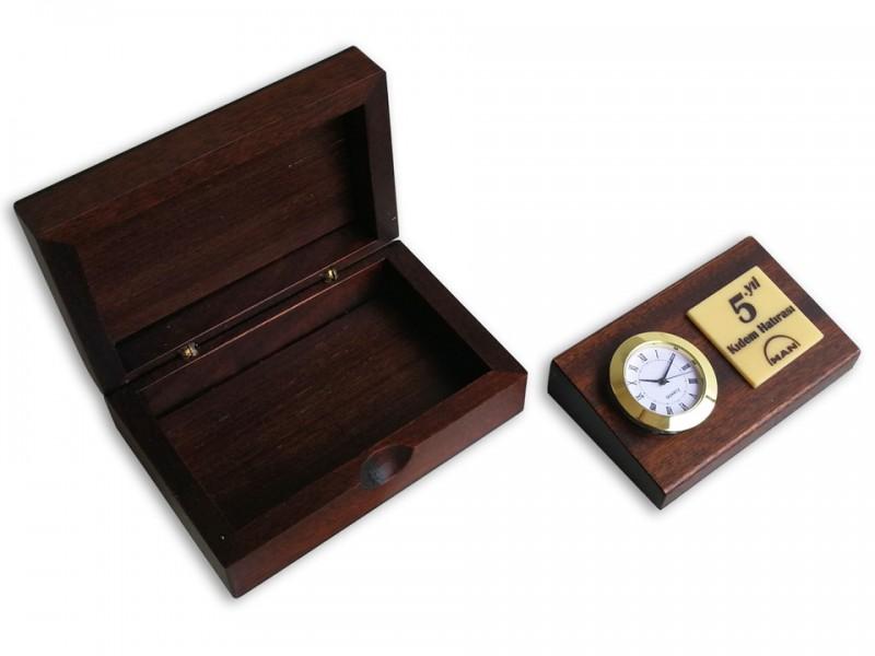 Wooden Seniority Plaquet with Clock