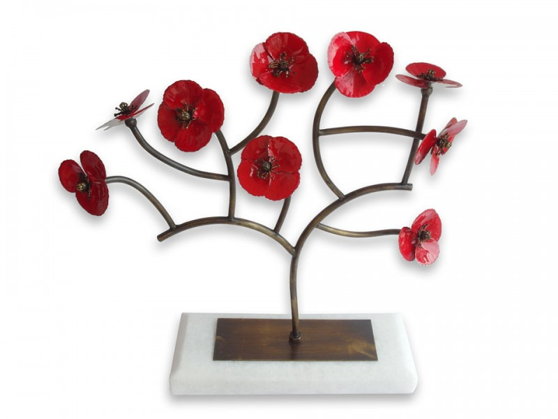 Handmade Poppy Flower