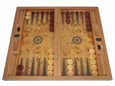 Engraved Wooden Backgammon